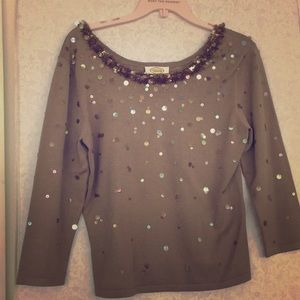 Gorgeous Sequined Silk blouse